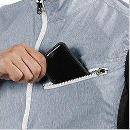 AC1024SET バートル エアークラフトセット[空調服]迷彩ベスト(男女兼用) ポリ100% Phone収納ポケット