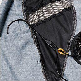 AC1024SET バートル エアークラフトセット[空調服]迷彩ベスト(男女兼用) ポリ100% 右・外側ポケットにつながるコードホール