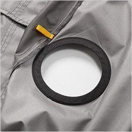 AC1076 バートル エアークラフト[空調服] 半袖ブルゾン(男女兼用) ファン取付口