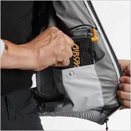 AC1076 バートル エアークラフト[空調服] 半袖ブルゾン(男女兼用) バッテリーポケット、ファスナー止め