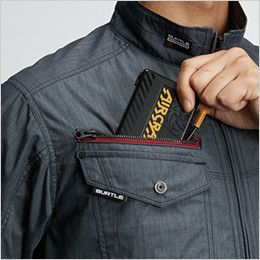 AC7141 バートル エアークラフト[空調服] ブルゾン(男女兼用) バッテリー収納ポケット、ファスナー止め、コードホール付き