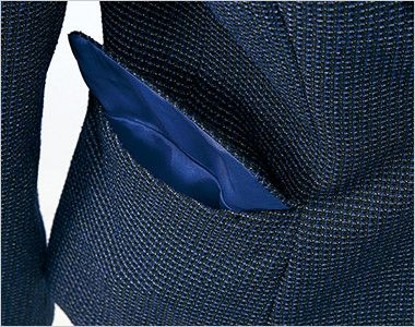 AR4816 アルファピア ジャケット ツイード(ストレッチ) ポケット内はハンコやリップが独立する内ポケット付き
