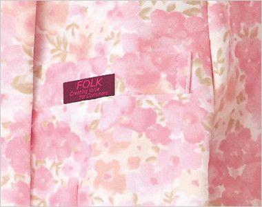 7019SC FOLK(フォーク)/フラワー 花柄ジップスクラブ(女性用) ポケット付き