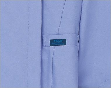 7022SC FOLK(フォーク) レディス ジップスクラブ(女性用) FOLKピスネーム付きポケット