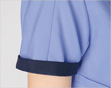 7025SC FOLK(フォーク) メンズ ジップスクラブ(男性用) 折り返して着られる袖デザイン。袖口のインナーカラーがアクセントに。