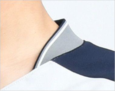7044SC FOLK(フォーク) ZIP SCRUB メンズジップスクラブ(男性用) アクセントカラーを効かせたスポーティな襟元