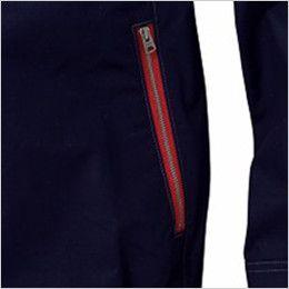 自重堂 54070 [春夏用]JAWIN 空調服 長袖ブルゾン 綿100% レッドファスナー