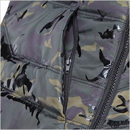 自重堂JAWIN 58710 カモフラ防寒ベスト ファスナーポケット