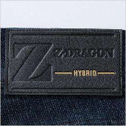 自重堂Z-DRAGON 75602 [春夏用]ストレッチデニムノータックカーゴパンツ 革ラベル(人工皮革)
