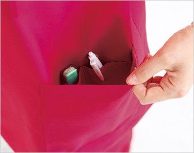 自重堂WHISEL WH11485 スクラブ(男女兼用) 内ポケットが3つある左脇ポケット
