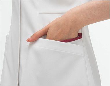 FT4532 ナガイレーベン(nagaileben) フェルネ ナースジャケット(女性用) おしゃれで収納力のある二重構造の両脇ポケット