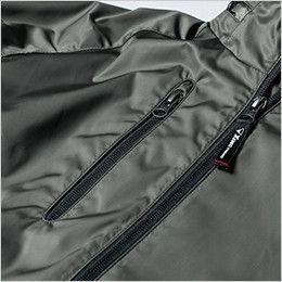 ジーベック 142 軽防寒ブルゾン(男女兼用) ファスナーポケット