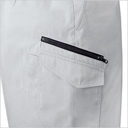 ジーベック 1696 [春夏用]帯電防止トロピカルノータックラットスズボン(男性用) ファスナーポケット付き