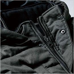 ジーベック 213 現場服 綿100% 防寒ベスト ドットボタンやファスナーが出ないのでキズつけない