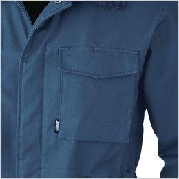 ジーベック 301 綿100%防寒コート 襟ボア ドカジャン ポケット