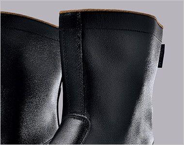 ジーベック 85028 安全半長靴 スチール先芯 ひもなしのシンプルデザイン