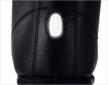 ジーベック 85028 安全半長靴 スチール先芯 視認性を高める反射材を使用。夜間や暗所での安全性を高めています。