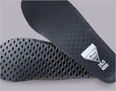 ジーベック 85129 セフティシューズ 棘(とげ)ソール  スチール先芯 穴あきEVAにメッシュ素材を貼り合わせたインソールでムレを防ぎ快適な履き心地に。