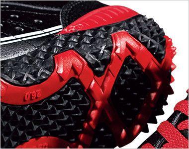 ジーベック 85129 セフティシューズ 棘(とげ)ソール  スチール先芯 靴底部分
