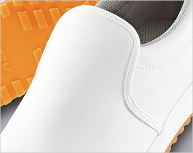 ジーベック 85665 厨房シューズ 先芯なし 耐滑ソール 足の甲まで覆うデザイン