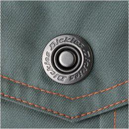 21-1401 ディッキーズ 長袖ツナギ ロゴ入りドットボタン