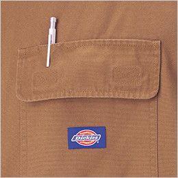 21-712 ディッキーズ [春夏用]綿100%半袖ツナギ  ペン差し付きポケット