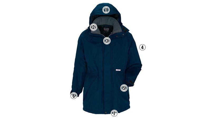 AZ6160 アイトス 光電子 軽量 防水防寒コート 商品詳細・こだわりPOINT