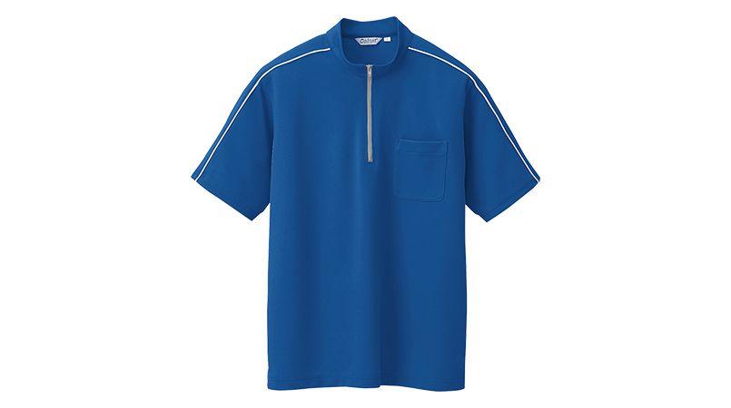 CL3000 アイトス 半袖クイック ドライジップ ポロシャツ(男性用) ニットパイピング 商品詳細・こだわりPOINT