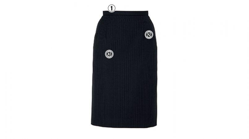 BONMAX AS2246 [通年]アウトラスト2 スカート ストライプ[温度調整機能付] 商品詳細・こだわりPOINT