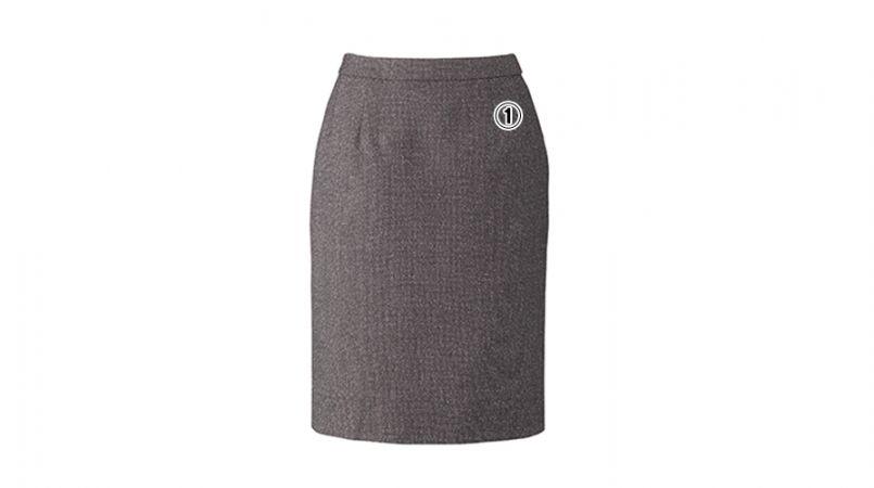 BONMAX LS2192 [通年]エミュ ペッパーツイード素材のタイトスカート 無地 商品詳細・こだわりPOINT