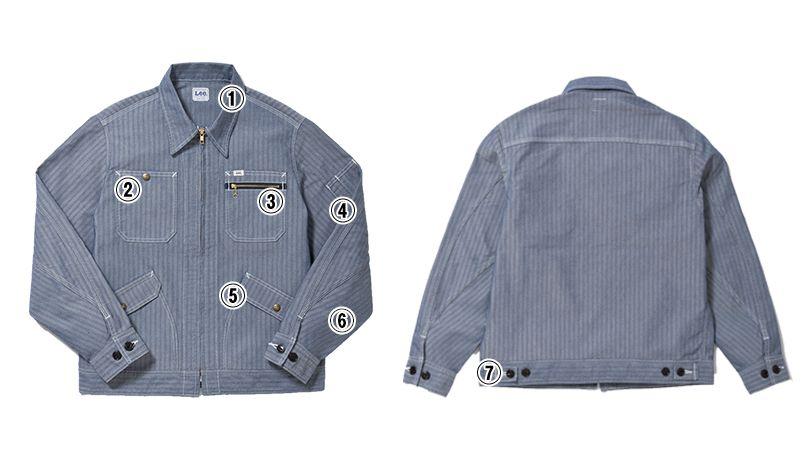LWB06001 Lee ジップアップジャケット(男性用) 商品詳細・こだわりPOINT