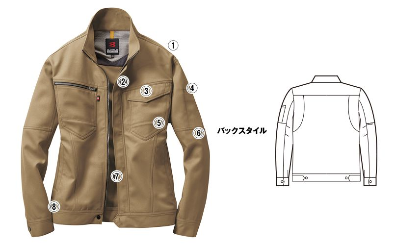 バートル 7091 [春夏用]ドビークロス長袖ジャケット(JIS T8118適合)(男女兼用) 商品詳細・こだわりPOINT