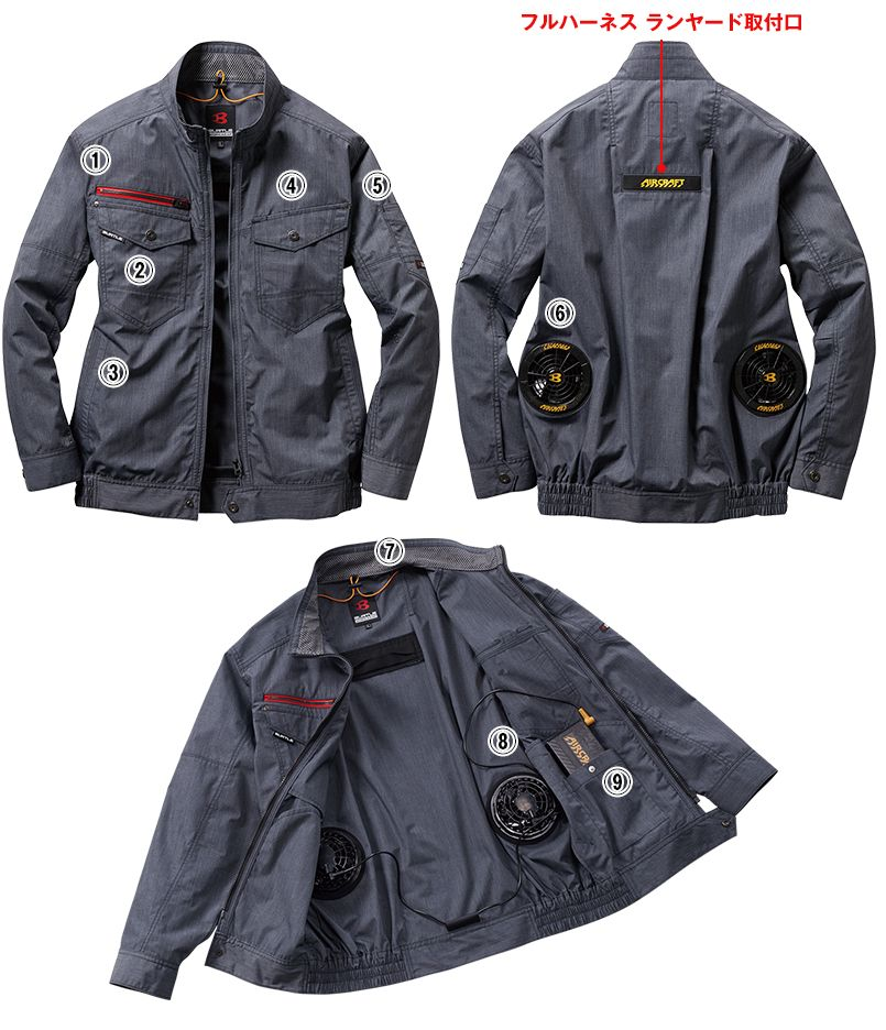 AC7141SET バートル エアークラフトセット[空調服] ブルゾン(男女兼用) 商品詳細・こだわりPOINT