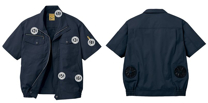 自重堂JAWIN 54010 [春夏用]空調服 制電 半袖ブルゾン 商品詳細・こだわりPOINT