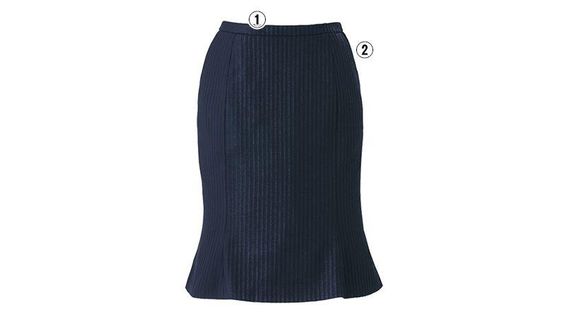 EAS423 enjoy マーメイドスカート ストライプ 商品詳細・こだわりPOINT