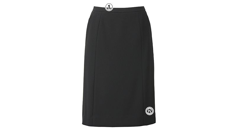 ESS458 enjoy セミタイトスカート 無地 商品詳細・こだわりPOINT