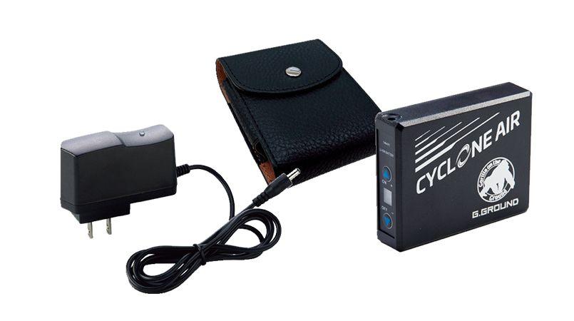 14002 G・GROUND サイクロンエアー バッテリーセット(バッテリー1個、ケース1個、充電器) 商品詳細・こだわりPOINT