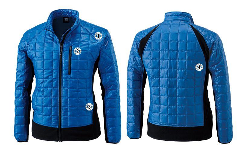 4226 TS DESIGN [秋冬用]マイクロリップロングスリーブジャケット(男女兼用) 商品詳細・こだわりPOINT