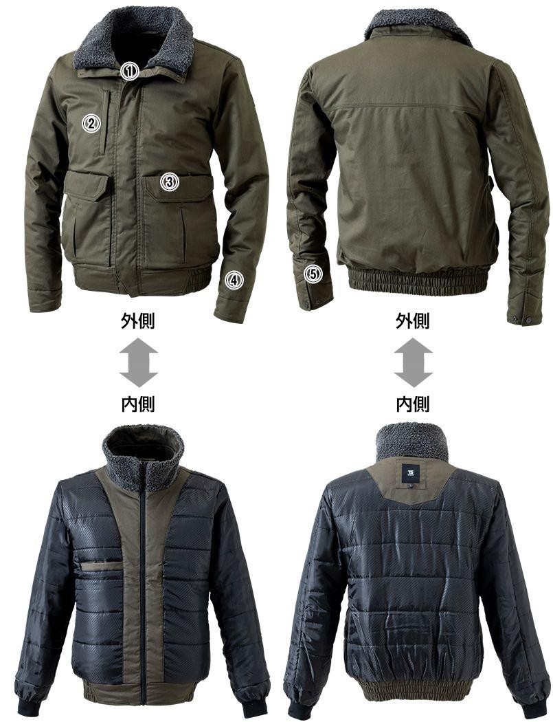 5126 TS DESIGN 綿100%ライトウォームジャケット(男性用) 商品詳細・こだわりPOINT