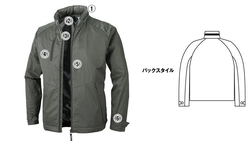 ジーベック 142 軽防寒ブルゾン(男女兼用) 商品詳細・こだわりPOINT