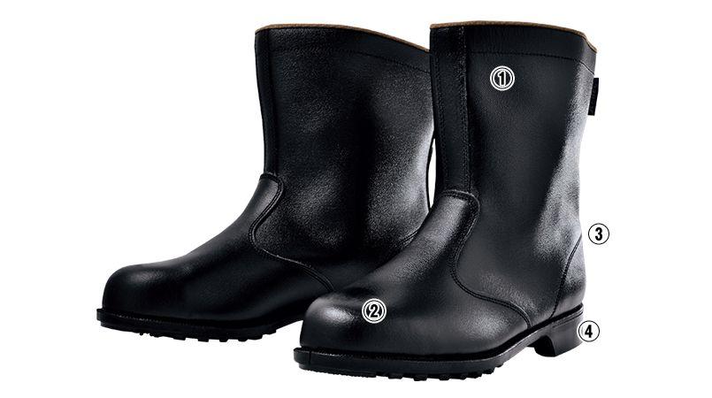 ジーベック 85028 安全半長靴 スチール先芯 商品詳細・こだわりPOINT