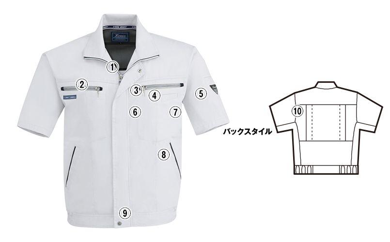 ジーベック 9651  [春夏用]クールボディ 半袖ブルゾン 商品詳細・こだわりPOINT