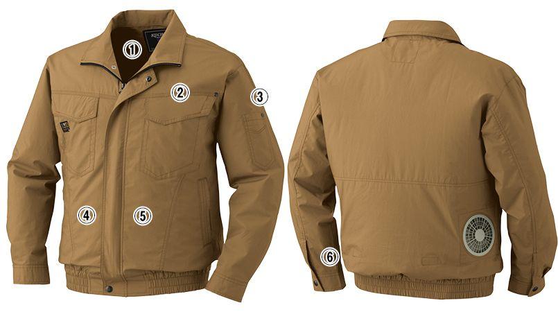 KU91400SET [春夏用]空調服セット 綿100%ブルゾン 商品詳細・こだわりPOINT