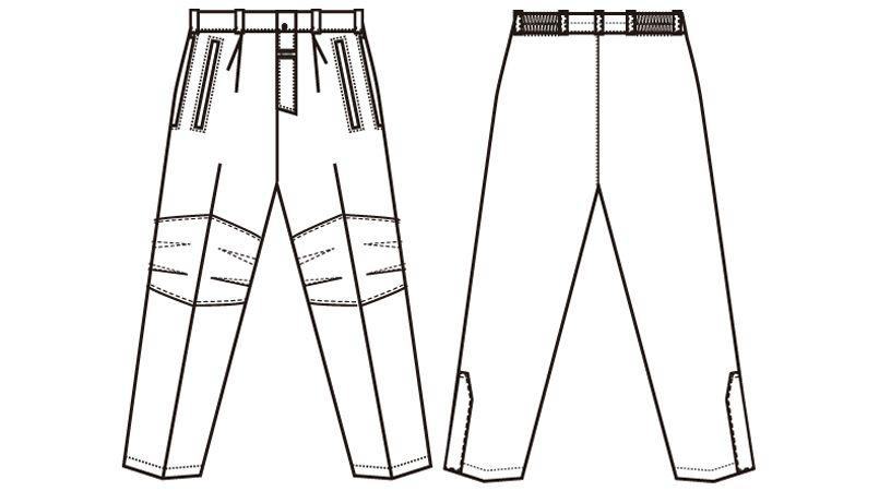 AZ6062 アイトス 寒冷地対応 光電子 防風防寒着ズボン ハンガーイラスト・線画