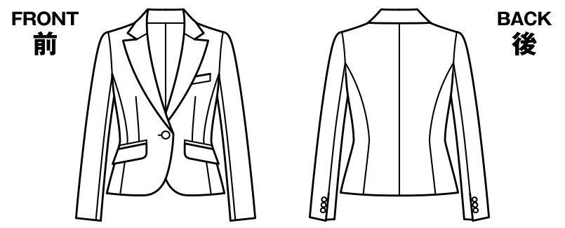 BONMAX AJ0228 [通年]エターナル ジャケット(1つボタン)  無地 ハンガーイラスト・線画