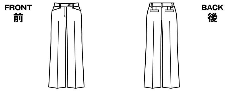 BONMAX AP6230 [通年]インプレス ストレッチ素材パンツ 無地 ハンガーイラスト・線画