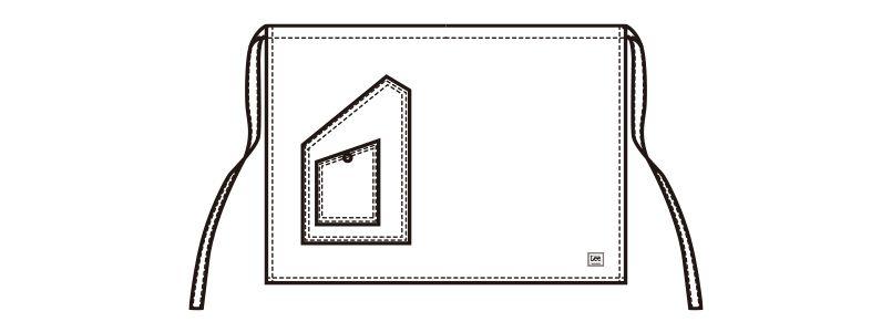 LCK79005 Lee ショートエプロン(男女兼用) ハンガーイラスト・線画
