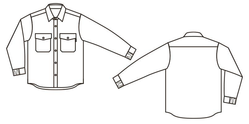 RS4901 ROCKY キルトシャツ(男女兼用) ハンガーイラスト・線画