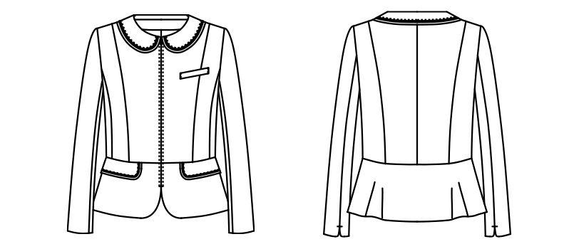 AR4816 アルファピア ジャケット ツイード(ストレッチ) ハンガーイラスト・線画