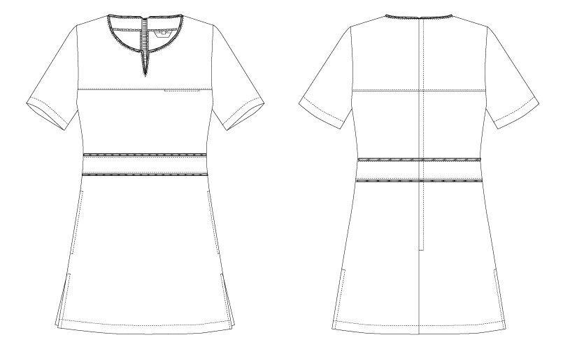 CL-0185 キャララ(Calala) チュニック(女性用) ハンガーイラスト・線画